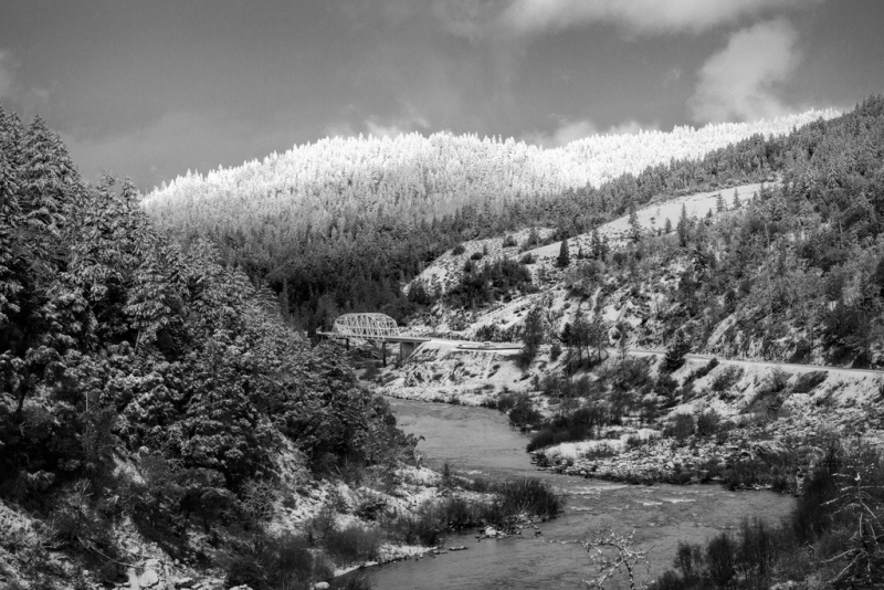 Rogue River Late Snow,Rogue River Late Snow