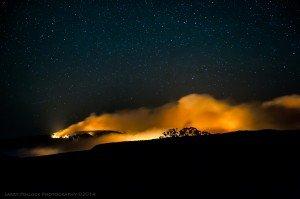 Slide Fire Sedona at night