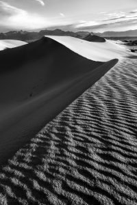 Death Valley Sand Dunes Black and White