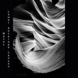 Wave of Lower Antelope Canyon in Black and White